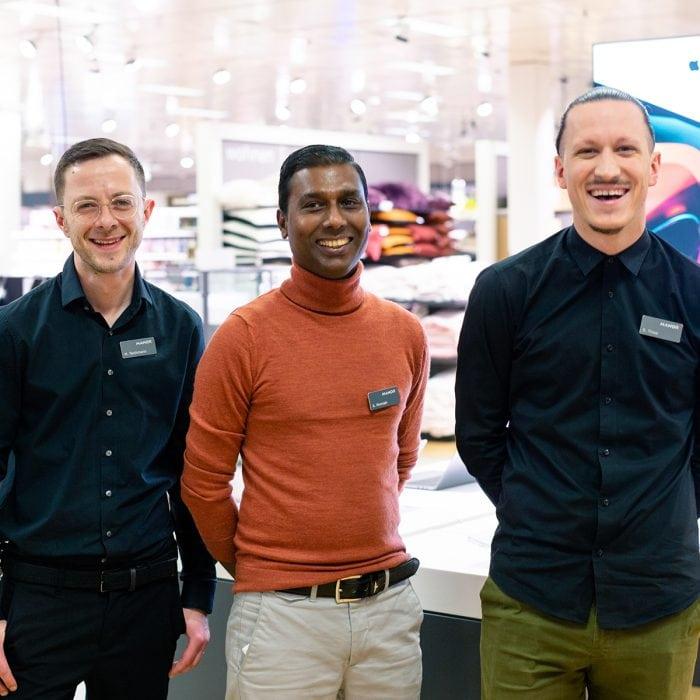 Das Team der Elektronikabteilung von Manor im Emmen Center